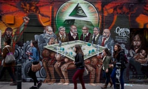 Photo of the Antisemitic mural that Tower Hamlets council decided to whitewash that Corbyn questioned without properly checking the photo out.